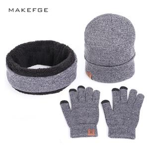 Cashmere winter scarf gloves hat three-piece set warm hat all-match fashion sweet girl hat