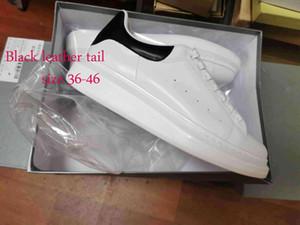 piattaforma delle nuove donne del progettista di calzature di lusso mens scarpe di cuoio Fashion Season Lace Up Oversized Sole Sneakers Bianco Nero Casual Scarpe Withfdaa #