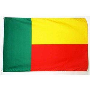 Benin 90 * 150cm indicador de la bandera envío de 3x5 pies de la bandera nacional de Benin para reuniones, desfile, Fiesta, colgado, Decoración