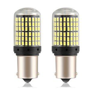 2PCS LED 1156 1157 BAY15D P21W BA15S PY21W BAU15S Car Bulb 2880Lm Vire sinal de luz 3014SMD para Passat CC 2008 DropShipping