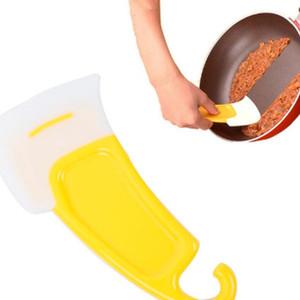 Mutfak Yağ Sıyırıcı Pan Kürek Silikon Spatula Yıkama Raspa Silikon Temizleme Fırçası Pan Mutfak Aletleri WY456Q