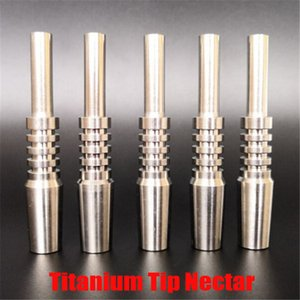 Hot Titanium Tip Nectar Collector Tip Titanium Nail Male Joint Micro NC Kit Inverted Nails Length 40mm Ti Nail Tips Hookah 10mm 40mm New