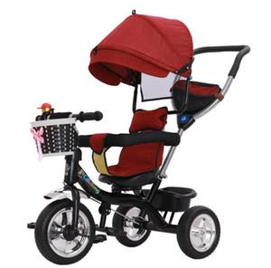 tre ruote di bicicletta pieghevole per bambini 1-3 anni del bambino mano spinta bambino passeggino biciclette per bambini diretta in fabbrica ride-on