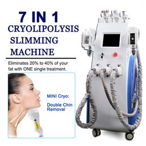 New 7in1 Cryolipolysis grasa de congelación de vacío máquina de adelgazamiento cavitación systerm Fet pérdida de grasa reducción de la talladora cuerpo de la máquina