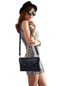 Fashion Ladies Crocodile Flap Bag Designer Borse Borse da donna 0 Black White Small Day Clutch Gold Chain Girls Crossbody Bags