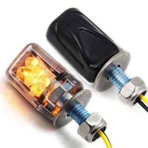 2PCS Universal Flowing Motorcycle Motorbike LED Turn Signal Indicator Amber Light