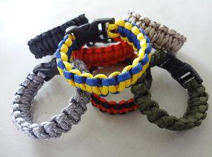 300pcs mix colors you pick Self-rescue Paracord Parachute Cord Bracelets Survival bracelet Camping Travel Kit