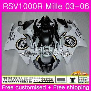 Кузов Для Aprilia RSV1000R Mille RSV1000 R RR 03 04 05 06 Кузов 38HM.22 RSV1000RR RSV 1000 2003 2004 2005 2006 03 06 Fairing Lucky Strike