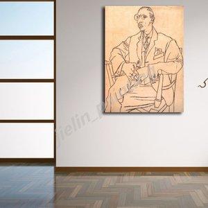 Retrato del arte 1920 de Pablo Picasso, Igor Stravinsky lona impresiones pared de la pintura imagen de la del dormitorio del hogar Decoración ilustraciones