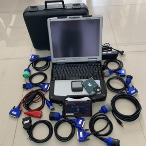 cnh dpa5 adapter heavy duty truck diagnostic tool with laptop cf30 touch screen cables full set 2 years warranty