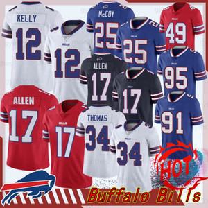 17 Josh Allen Buffalo Homens Jerseys Bill 17 Josh Allen Homens 12 Jim Kelly 91 Oliver 49 Tremaine Edmunds Jerseys 34 Thomas 25 McCoy 5 Taylor novo
