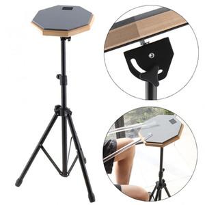 8 pulgadas gris goma madera tambor tonto práctica entrenamiento tambor Pad con soporte para instrumentos de percusión piezas Mock instrumento