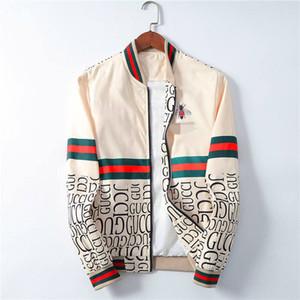 Abbigliamento sportivo uomo di alta qualità di modo ultima lettera floreale cerniera modello maschile Medusa uomini giacca di marca del rivestimento casuale con cerniera M-3XL BBH