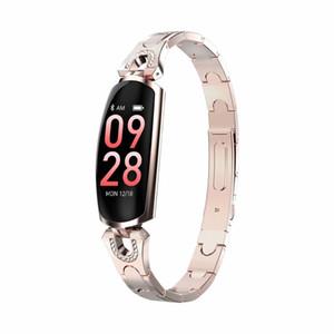 Smartwatch moda esercizio heartrate monitor della pressione sanguigna intelligente braccialetto fotocamera a distanza donne brecelet orologio braccialetto intelligente signora app