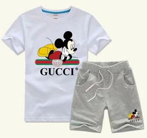 Çocuklar Boys And Girls Spor Suit Bebek Bebek Kısa Kollu Elbise Çocuk Seti 2T-9T ceket biofs ifoe için 2020 SICAK SAT Yeni Çocuk Giyim