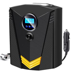 자동차 오토바이 LED 라이트 타이어 펌프를위한 휴대용 자동차 공기 압축기 DC 12V 디지털 타이어 팽창기 공기 펌프 150 PSI 자동 공기 펌프