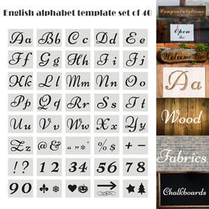 Ho 40 шт. набор английских букв трафареты для рисования плесень алфавит знаки каллиграфия шрифт верхний нижний регистр буквы многоразовые LSK99