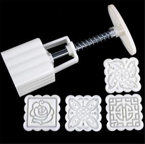 New (Kitchen, Dining & Bar 4 Patterns Square Moon cake Fondant Sugarcraft Decorating Cookies Mold Mould Baking Tool Set
