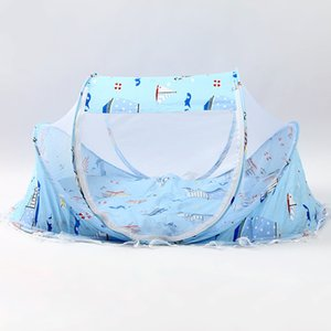 LISM 3pcs Travel portable Baby Netting Bedding Crib Mat Pad Cover Foldable Baby Mosquito Nets Tent Bed Mattress Pillow
