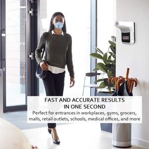 벽걸이 없음 터치 적외선 온도계, LED 디스플레이와 비 접촉 이마 적외선 온도 감지기 및 벽걸이 기능