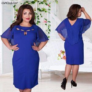 Summer Fashion Elegant Womens Hollow Plus Size L-6Xl Dress Evening Party Ropa de playa Vestidos suaves Vestido Designer Ladies