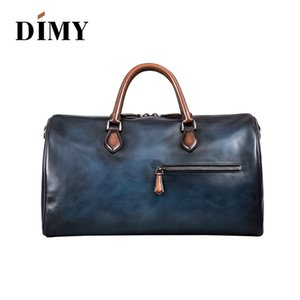 DIMY fashion extra large weekend duffel bag big genuine leather business men's travel bag popular Free shipping
