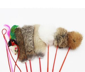 Hot Section Long Funny Cat Stick Kitty Toy Funny Kitten Stick Rabbit Hair Interesting Kitty Rod Amusing Cat Plaything Mouse Pet Cat Toy