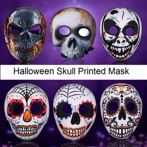 Cadılar bayramı EVA Kafatası Maskesi Kafatası Baskılı FullFace Maske Yetişkin Çocuk Terör Muhteşem Hayalet Masquerade Parti Maskeleri