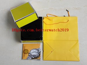İzle Kutuları Mens Için Orijinal Kutusu Womans Mens Saatler sarı Breit ling Kutuları Erkekler Kol 1884 kutusu erkek kutusu ücretsiz shipping7750 Chronograp