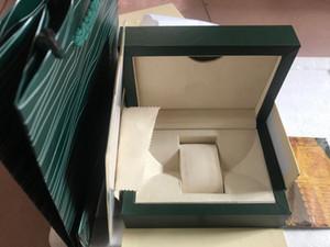 2020 Großhandel Top-Pantoffel LuxuxMens Für RX-Uhr-Kasten Ursprüngliche Inner Outer Uhren Boxen-Mann-Armbanduhr-Box Papiere Karten-Mappe BoxesCase