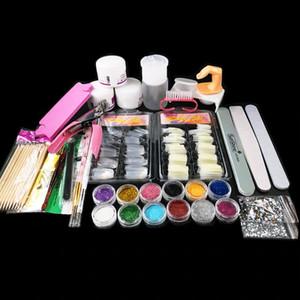 Set di punte per nail art in acrilico Set di punte per nail art in acrilico Kit di punte in acrilico per unghie in polvere