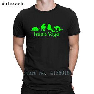 Irish Yoga T Shirt Crazy Spring Comical Novelty O Neck Tee Shirt Personalized Slim Shirt