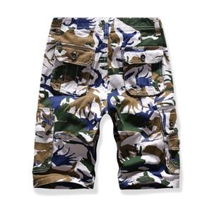 Bermudas de carga calças curtas homens sweatshorts camuflagem calções de verão calções casuais bolsos tamanhos grandes atacado 2019