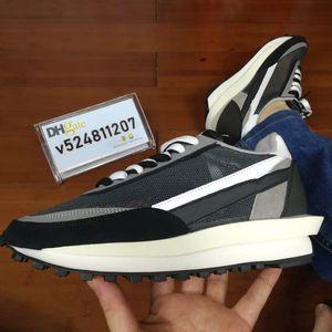 2019 X LDV Waffle alba de los zapatos corrientes Diseñador Formadores para hombre zapatillas de deporte para las mujeres Moda Zapatos Breathe Callos S Negro Deportes