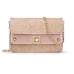 Golden Fox Baggage Girl 2019 New Fashion Euro-American Street Photo Single Shoulder Slant Bag Sequins Star Chain Handbag CJ191219