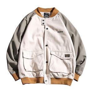 Herren Jacke Lässige Large Size Bomberjacke Fashion Style Herren-Jacken mit 2 Farben asiatischen M-5XL
