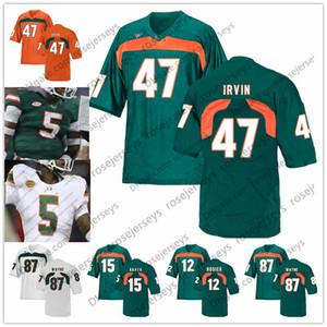 NCAA Miami Hurricanes # 3 Frank Gore Travis Benjamin 47 Michael Irvin 80 Jimmy Graham 94 Dwayne Johnson The Rock Retired Football Jersey