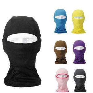 Deportes prueba de viento Protector solar Máscara Pure Color de Equitación de Invierno máscara manguitos del oído de secado rápido manguitos 9 Estilo WY197Q