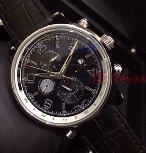 Hombres de acero inoxidable reloj automático Movimiento Negro varones grande de cuero Dial Deportes relojes mecánicos de pulsera para hombre