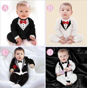 2020 new baby clothes autumn children's clothing wholesale boy modeling Terry gentleman bodysuit hardcoat creeper bodysuit manufacturer's