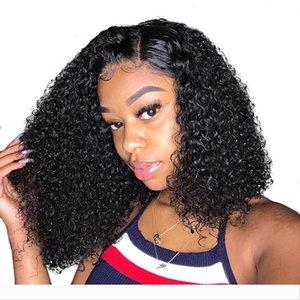 Bob Lace Front Perücken für Frauen 150% Lace Front Wig Curly Bob 360 Lace Frontal Perücke brasilianischen lockigen Kurzmenschenhaar-Perücken