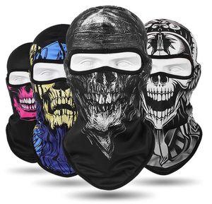 2018 CS Cosplay Fantasma Máscara Crânio tático Máscaras Faciais Motociclista Motociclista Respirar À Prova de Poeira Máscara À Prova de Vento Máscaras de Esqui esporte