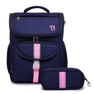 Large Capacity Children's Foldable School Bags for Kids Orthopedic School Backpacks Girl Knapsack Schoolbag Mochila Escolar