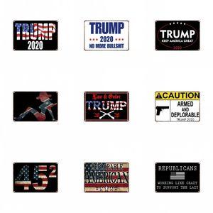20 * 30cm 철 그림 로그인 홈 장식에 대 한 미국 위대한 트럼프 2020 틴 징후를 유지 패션 인기 우