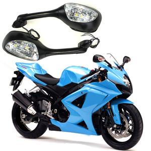 Suzuki GSXR600 750 1000 를 위해 2006-2010K6K7K8Led 우회 신호등 부속품을 가진 오토바이 백미러 백미러