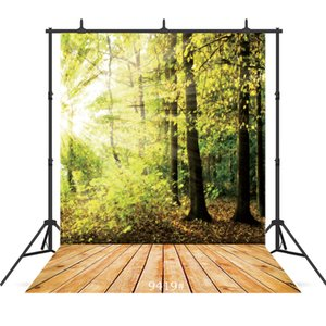 Vinyl fotografia di ritratto sfondo raggi solari foresta pavimento in legno per il bambino doccia nuovi bambini nati ritratto sfondo studio shoot fotografico