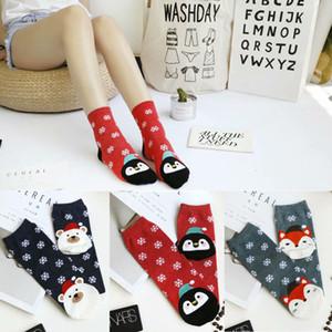 Hirigin Harajuku Xmas Socks 2019 новое прибытие 1 пара Рождественский подарок женщины Gilrs зимние теплые мягкие хлопчатобумажные носки милые рождественские горячие