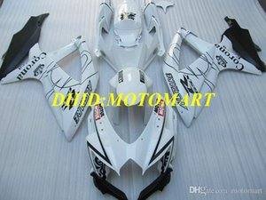 Injection mold Fairing kit for SUZUKI GSXR600 750 K8 08 09 GSXR600 GSXR750 2008 2009 Top white black Fairings set SA18
