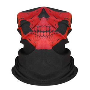 Designer Women Silk Magic Skull Scarf Face Mask 14 Styles Chiffon Handkerchief Outdoor Windproof Half Face Dust-Proof Sunshade Masks #548#229