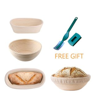 Oval Round Rattan Bread Proofing Basket with Cover Sourdough Proving Basket Bread Rising Baskets Bakery Cafe Baking Tools